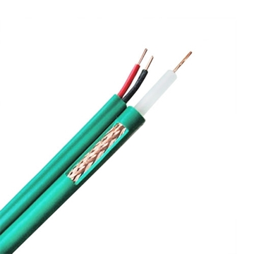 Picture of Roll 100m RG59 coax + 2x 0,81 green color