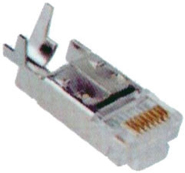 Picture of Connectors RJ45 CAT5 mesh clip 10 pieces