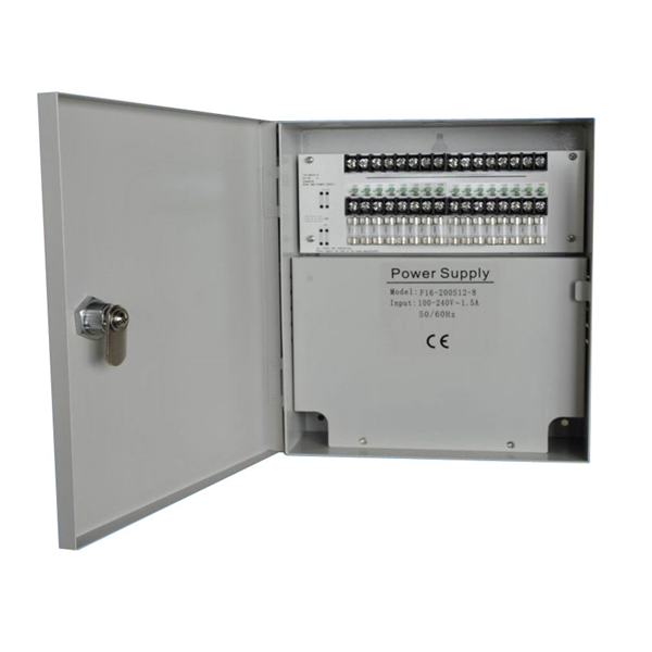 Afbeelding van Power supply 12V 20A 16 outputs metal case