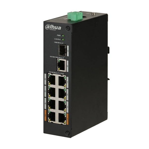Picture of Switch : 8x POE + 1X uplink Industrial + SFP