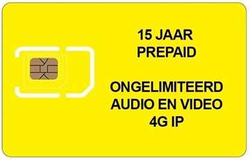 Picture of PREPAID SIM 15 JAAR ONGELIMITEERD 4G voor 100 appartementen