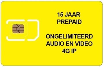 Afbeeldingen van PREPAID SIM 15 JAAR ONGELIMITEERD 4G voor 200 appartementen